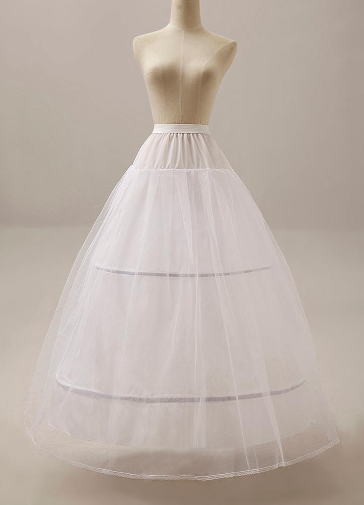 Wedding Petticoat white Ball Gown crinoline 2 hoop  2 Tier  briadal slip