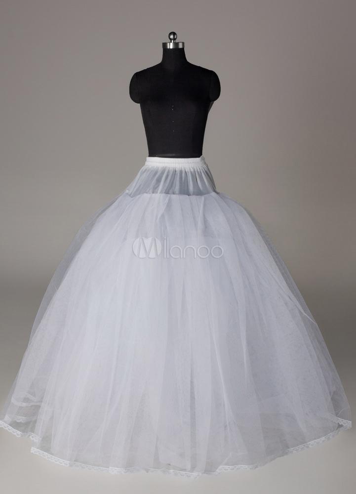 Buy Wedding Petticoat fwhite ull gown 4 tier bridal crinoline slip for $20.99 in Milanoo store