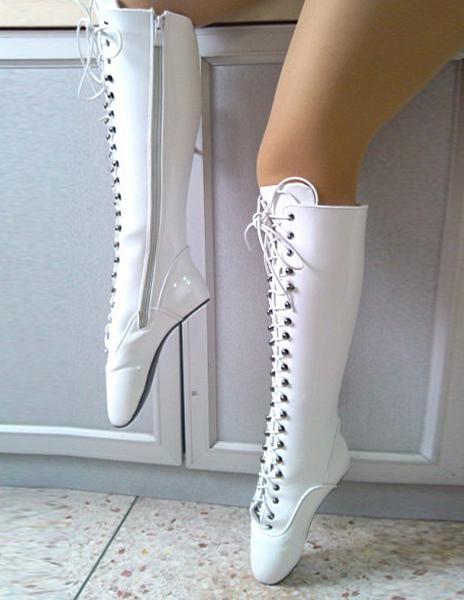 Beliebt Bevorzugt Attraktive Ballerinas Stiefel mit Schnüren - Milanoo.com &GJ_88
