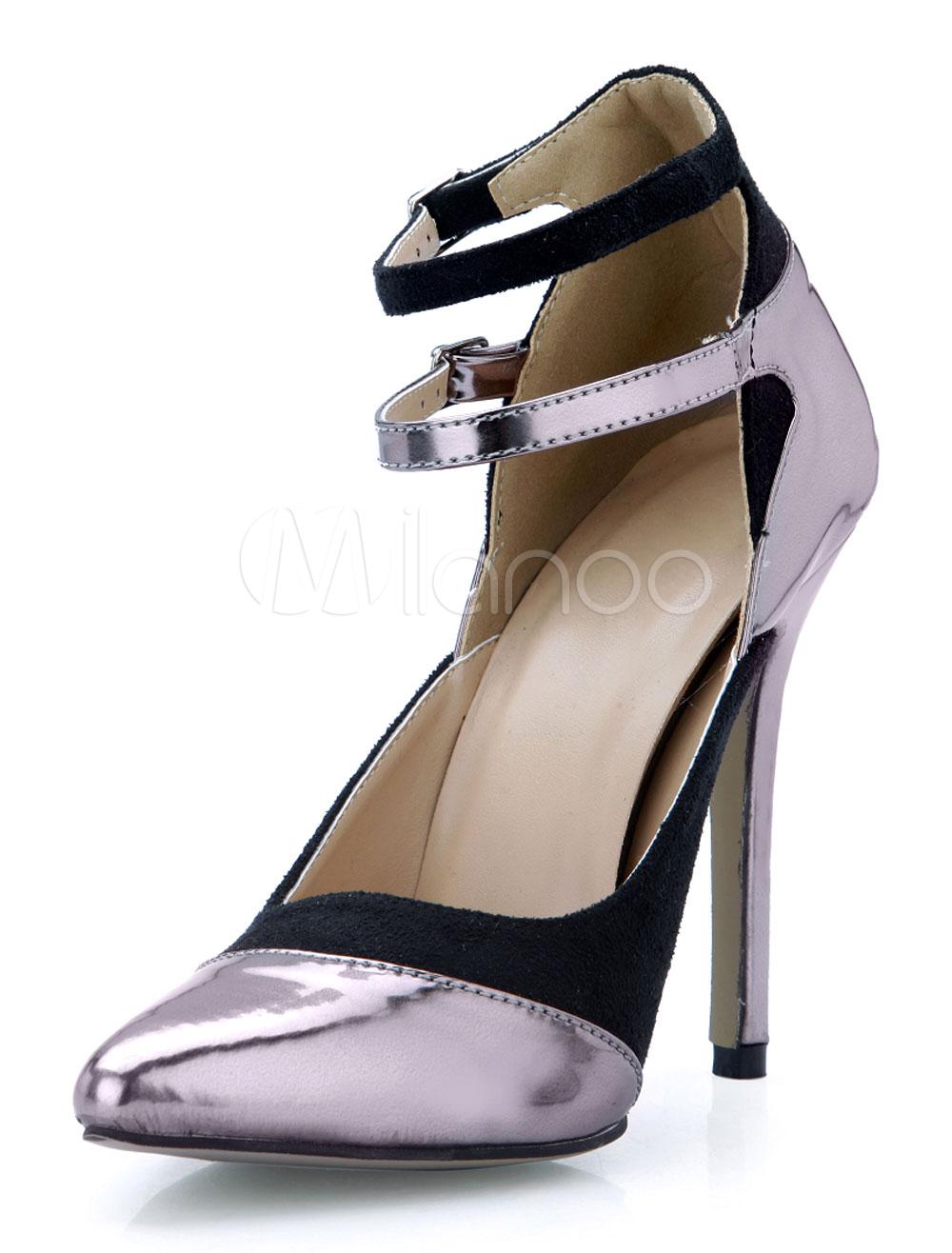 Zapatos puntiagudos de satén elástico de color bronce WkaY5kpB