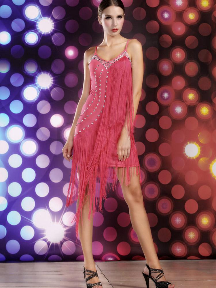 Vestido de baile latino de elastano - Milanoo.com