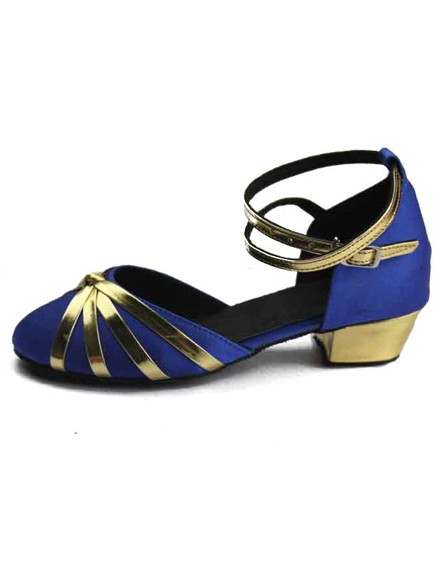 Milanoo / Professional Criss-Cross Round Toe Silk And Satin Latin Dance Shoes
