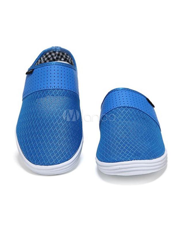 Trapuntato Sportive Maglie Scarpe Blu Tagliato Casual Rotondo Toe qAc15