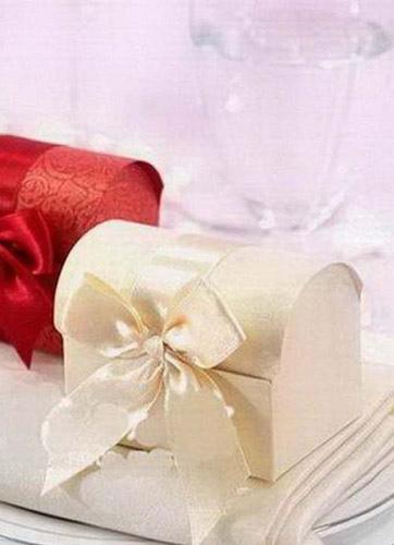 Multicolor Bow Ribbon Pearl Paper Wedding Favor Box