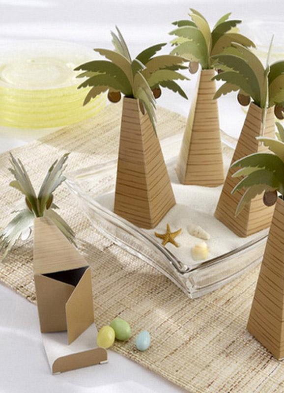 Olive Tree Wedding Favor Boxes Set of 12