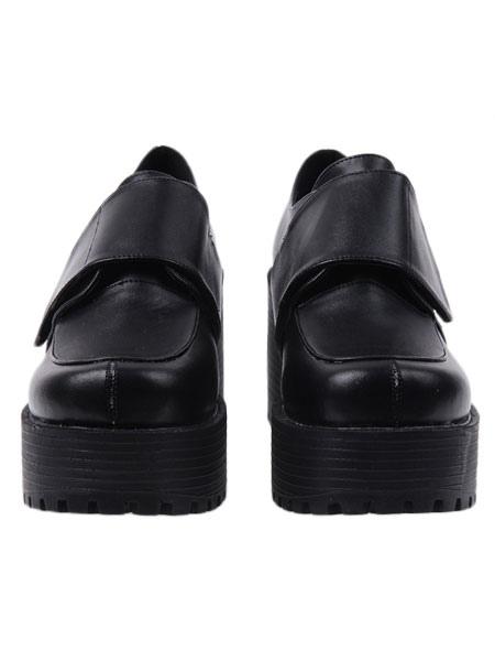 Gothic Black Lolita Heels Shoes Square Heels Platform Shoes