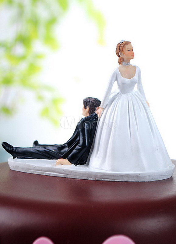 Buy Traditional Figurine Funny Wedding Cake Toppers for all Seasons for $13.49 in Milanoo store