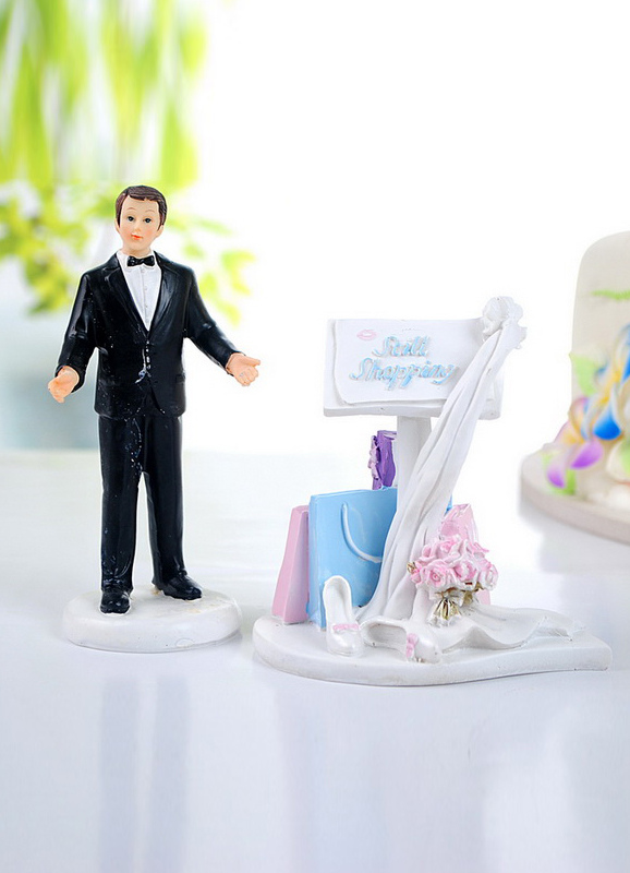Buy Funny Classic Figurine Wedding Cake Toppers for $13.49 in Milanoo store
