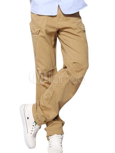 Coton Lin Cargo Directement Smart Pantalon Pantalons Pour Hommes