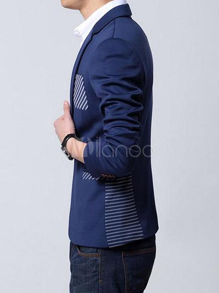 Elegante Stripe cotone vestiti Casual per uomo - Milanoo.com 5f47915980f