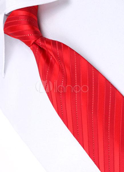 Milanoo / Modern Polyester Stripe Dress Tie ( 6/Pack ) For Men