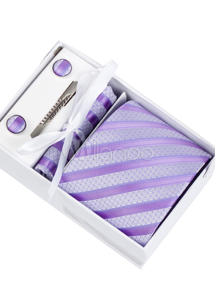 Milanoo / High-end Polyester Mens Dress Tie ( 6/Pack )