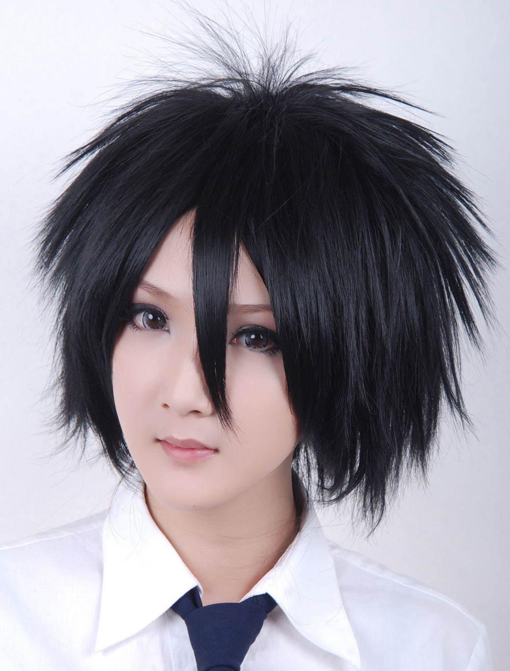 Buy Naruto Uchiha Sasuke Heat-resistant Fiber Cosplay Wig Halloween for $15.29 in Milanoo store