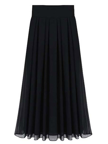 Pleated Long Chiffon Vintage Skirt For Women Cheap clothes, free shipping worldwide