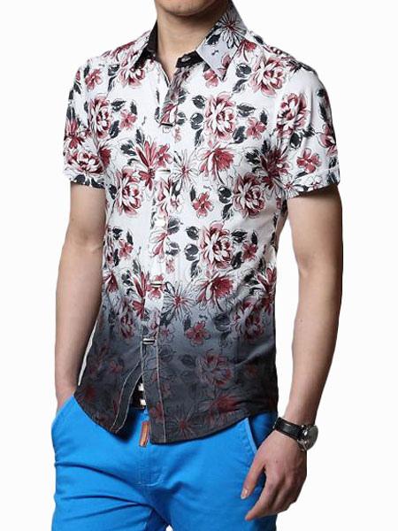 new concept ec97f 14cf1 Trendiges Herren Hemd aus 100% Baumwolle mit Farbverlauf