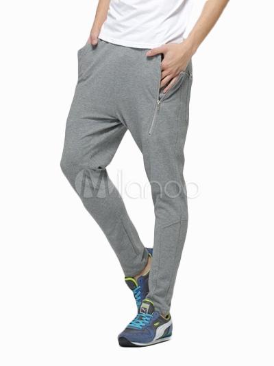 07b0af0f2d6e Coole Zipper reiner Baumwolle Jogginghose Hose für Männer