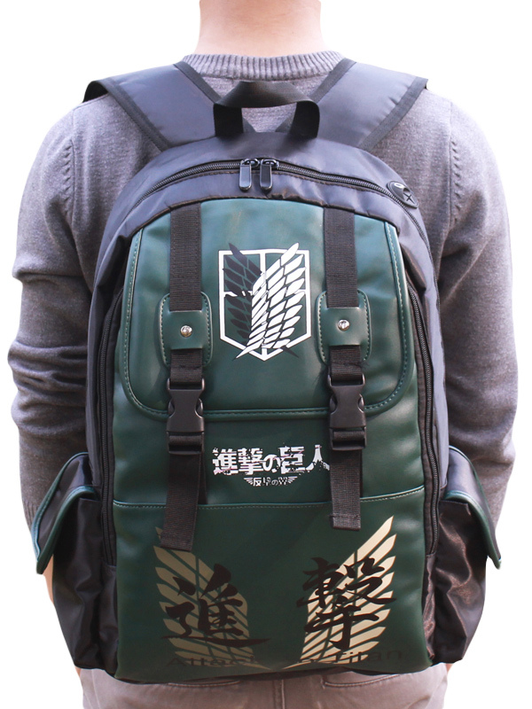 Buy Attack on Titan Shingeki no Kyojin Anime Backpack Halloween for $21.99 in Milanoo store