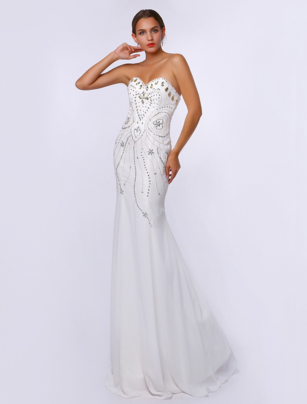 Gorgeous Ivory Totem Mermaid Evening Dress
