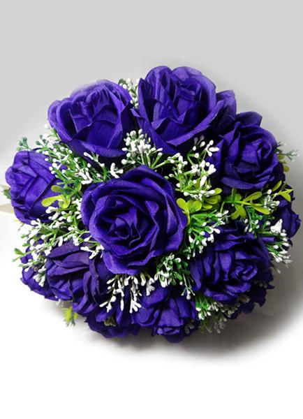 Free-form Shape Silk Flower Deep Purple Pretty Wedding Flowers