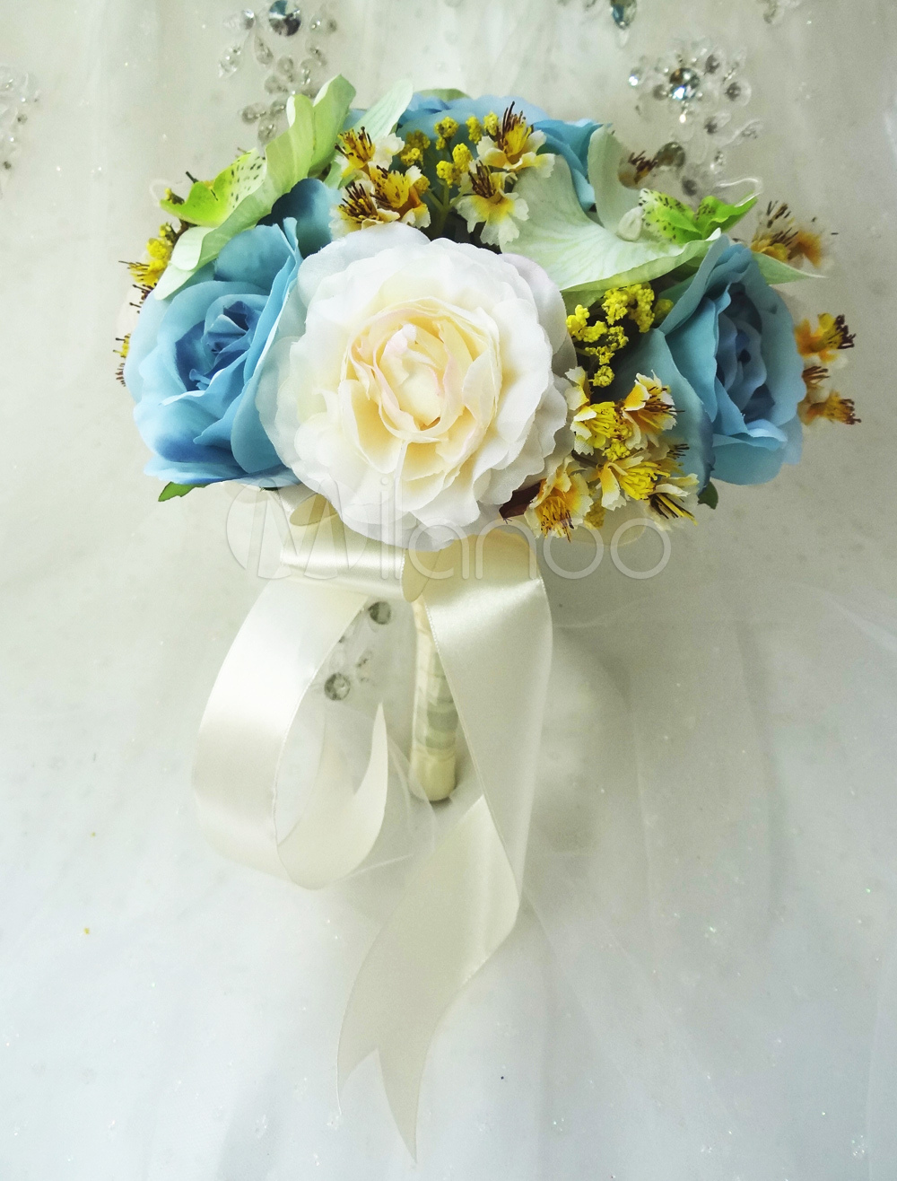 Wired Shape Silk Flower Gorgeous Wedding Flowers