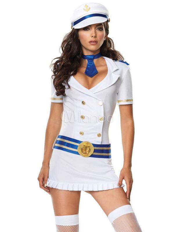 Cotton Blend Chic Womens Sailor Costume -No.1 ...  sc 1 st  Milanoo.com & Cotton Blend Chic Womens Sailor Costume - Milanoo.com