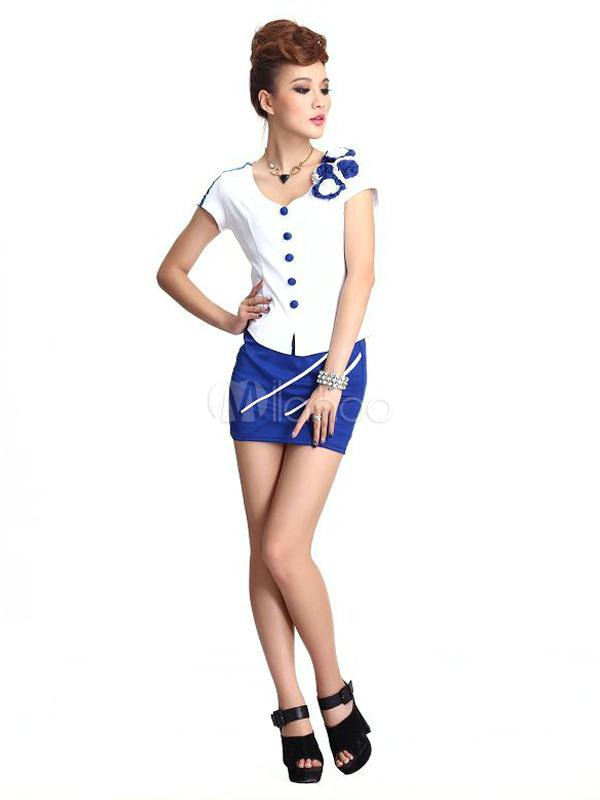 Sexy Sekretärin Kostüm Aus Gemischten Baumwolle Milanoocom