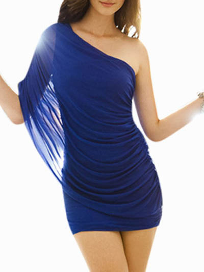 One Shoulder Mini Dress Cheap clothes, free shipping worldwide