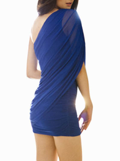 Milanoo / One Shoulder Mini Dress