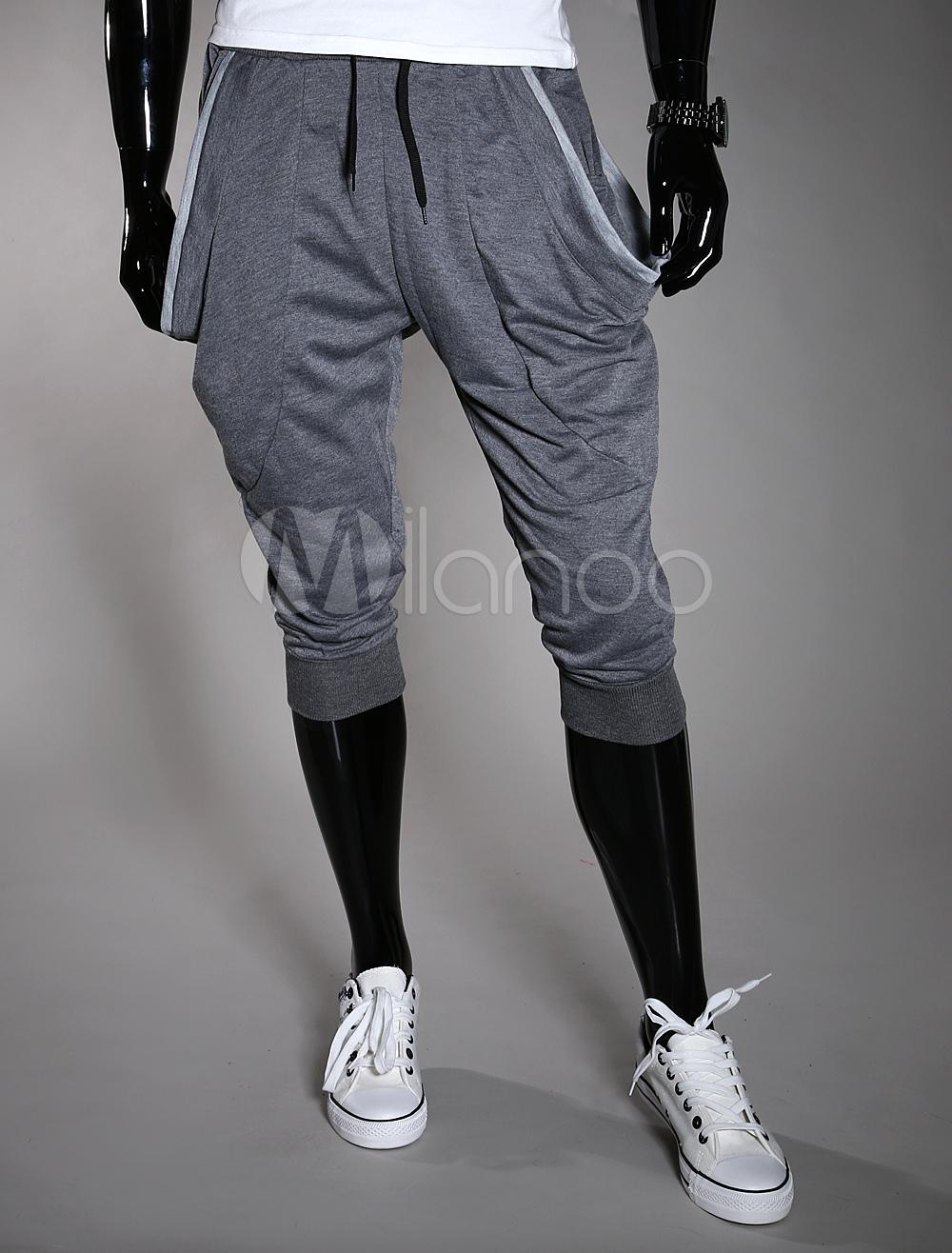 Hip Hop Elastic Waist Cotton Men's Shorts