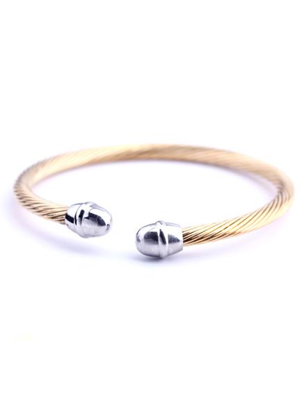 Gold Geometric Stainless Steel Smart Bracelet for Men