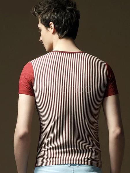 tee shirt homme mode moulant en coton de col v avec zip. Black Bedroom Furniture Sets. Home Design Ideas