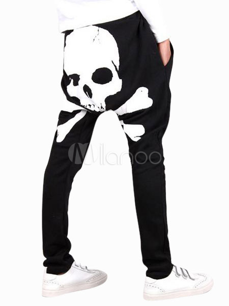 Daily Skull Pattern Cotton Cool Harem Men's Pants