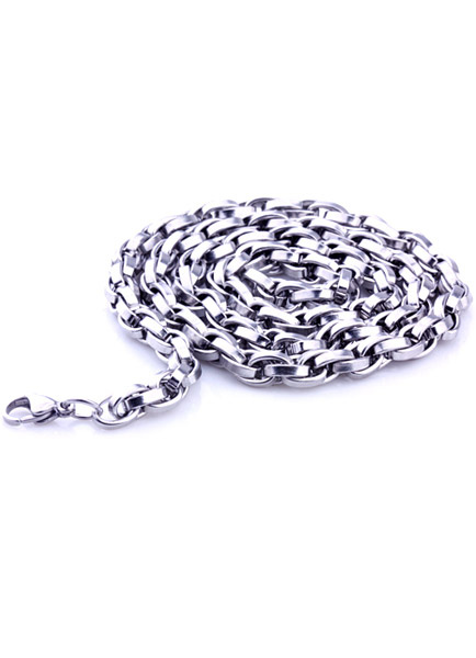 Stylish Silver Lobster Claw Clasp Stainless Steel Man's Necklace