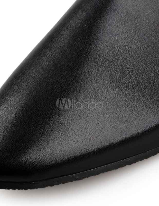 147c8c483c1 Backless Pointed Toe PU Leather Loafer Shoes For Men - Milanoo.com
