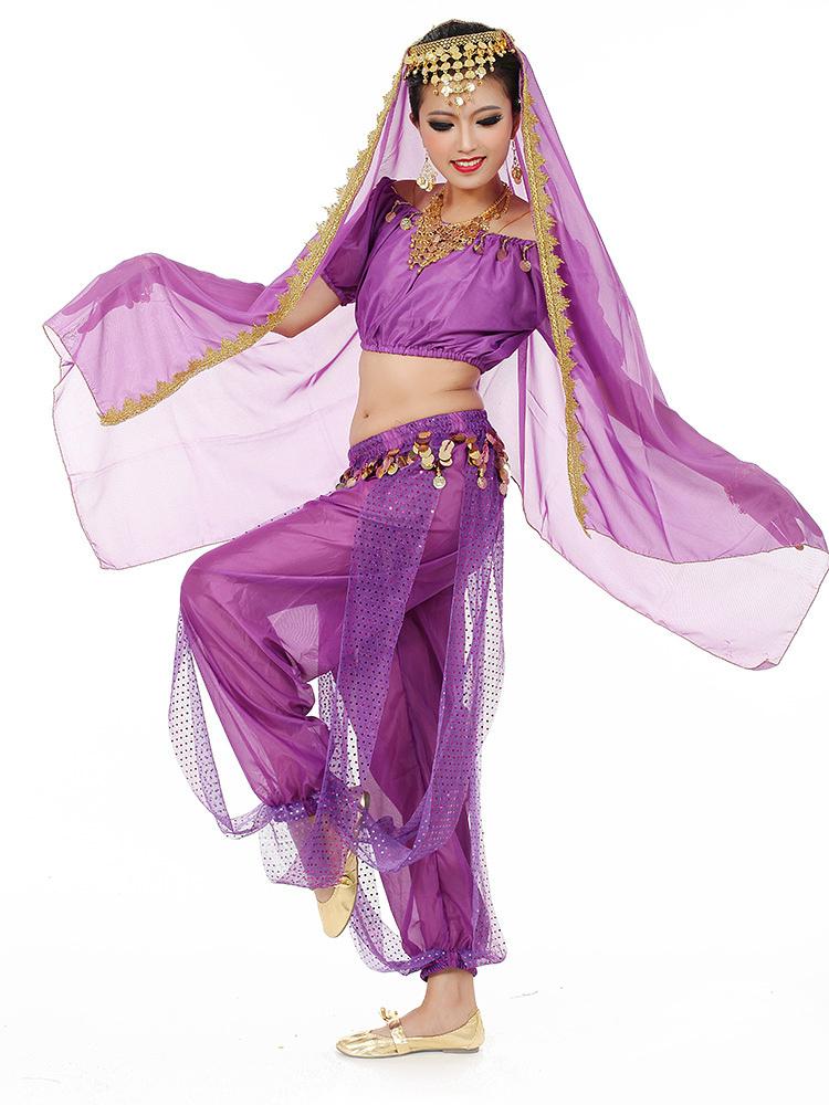 Traje de danza del vientre encantador vestido de baile de Bollywood ...