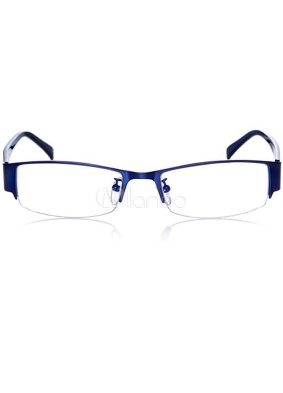 Estilo británico Business Casual semi-sin Montura Gafas para hombres ...