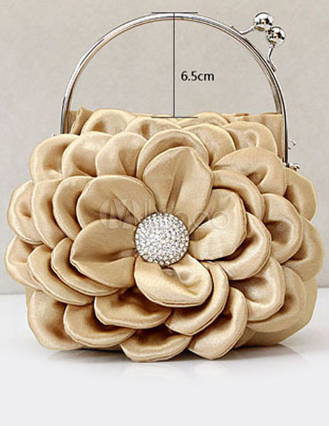 Buy Sweet Beige Satin Evening Bag With Sequins For Woman for $17.59 in Milanoo store