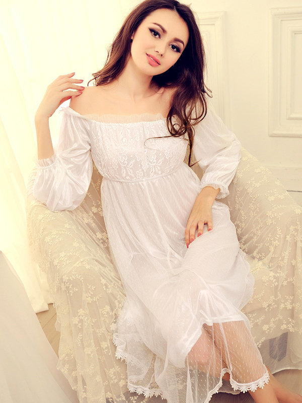 Buy New Arrival Charming Cost-effective Lace Semi-sheer Ruffles Sexy Dress For Woman for $22.79 in Milanoo store