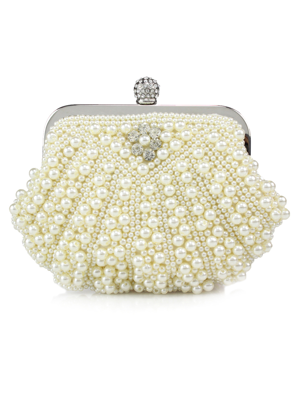Sweet Handmade Beading Pearl Evening Bag For Women