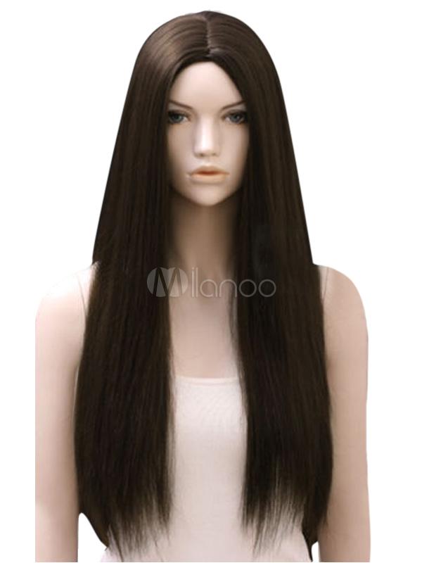 Perruque femme longue marronne claire ébouriffé