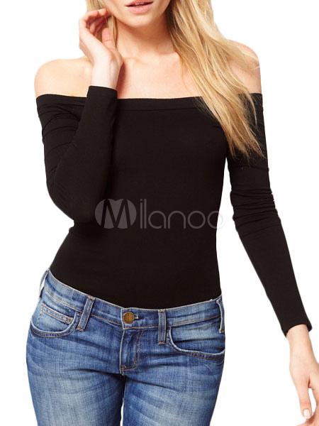 c54ca6b5e2336 Camiseta con escote de hombros caídos - Milanoo.com