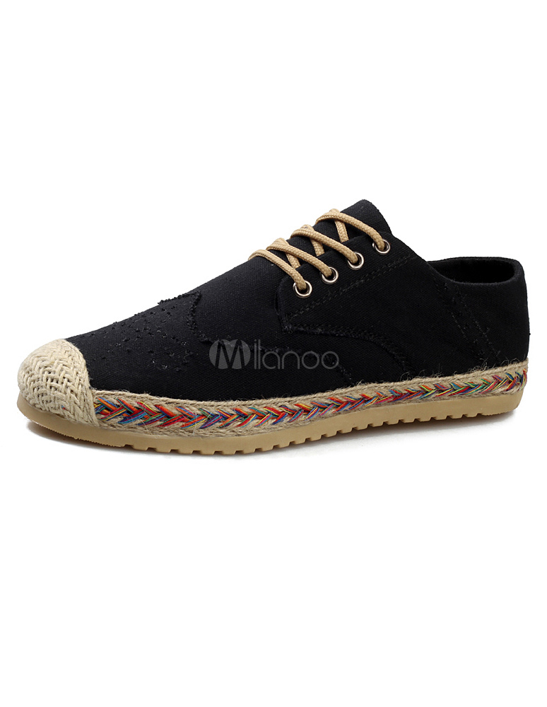 speical offer ever popular promo codes Smart Canvas Round Toe Lace Up Men's Casual Shoes