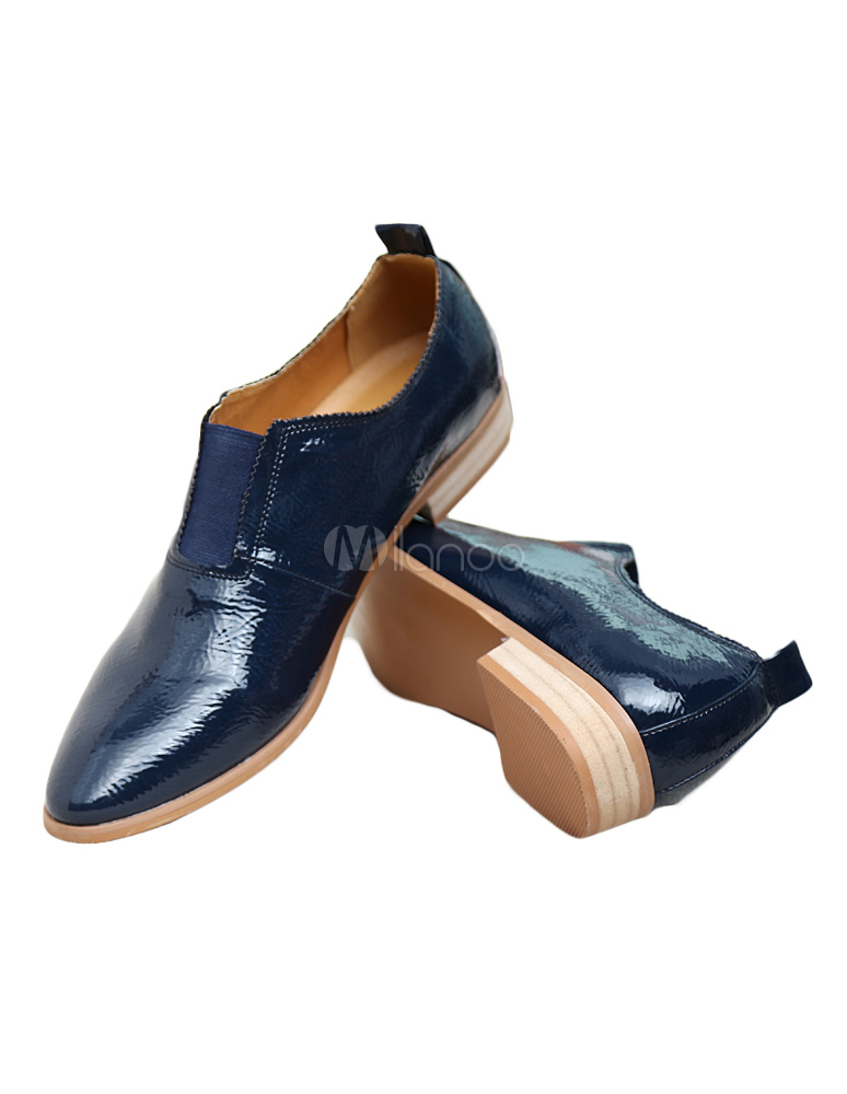 Chaussures à bout pointu bleues homme AWpTuMSnF