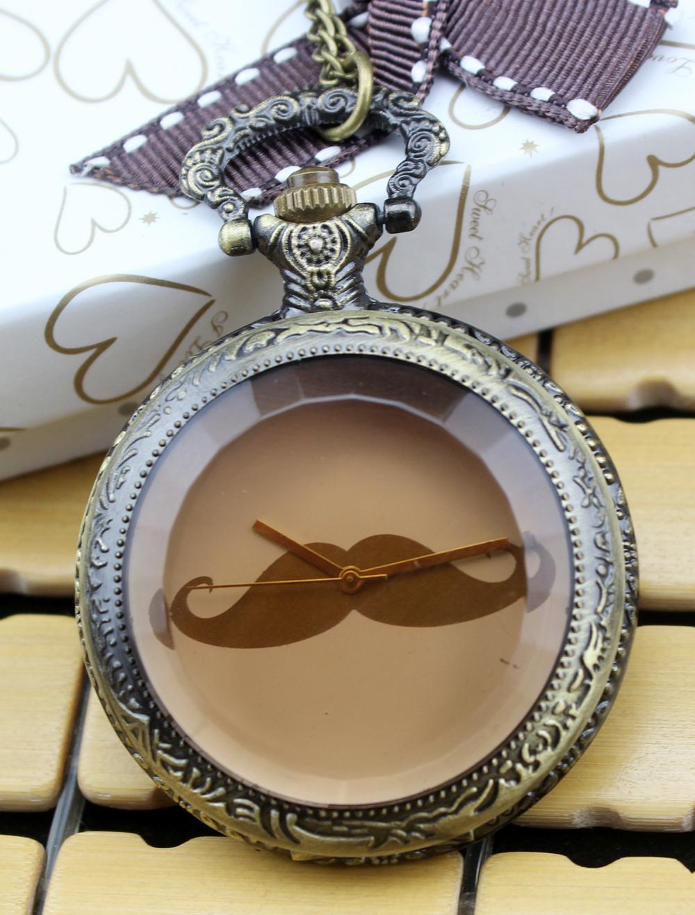 Chic Wedding Personalized Beard Pocket Watch