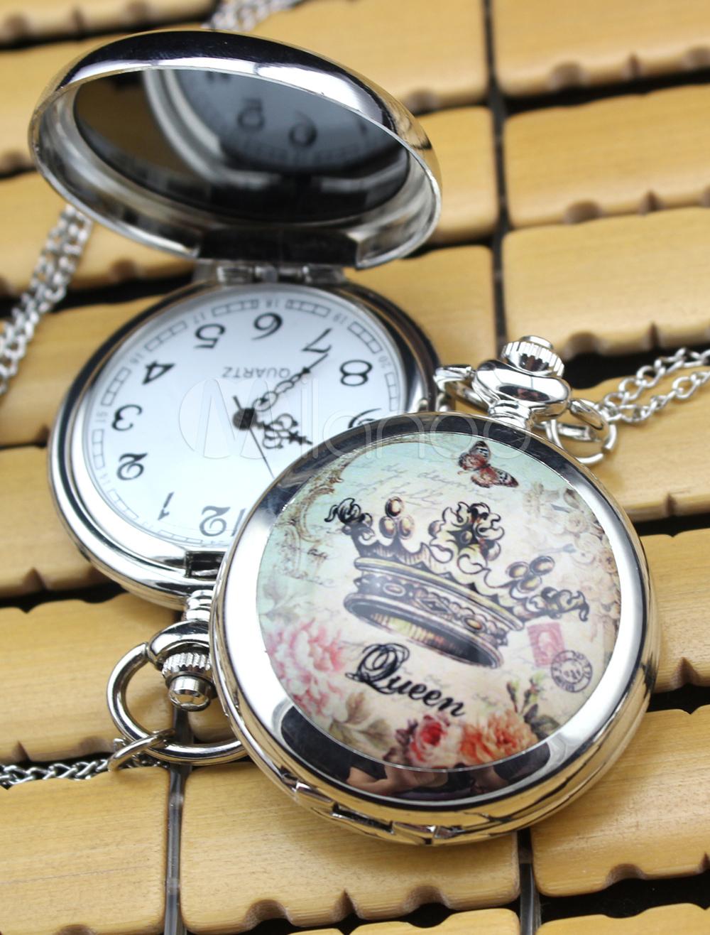 Fashion Personalized Wedding Crown Pattern Pocket Watch