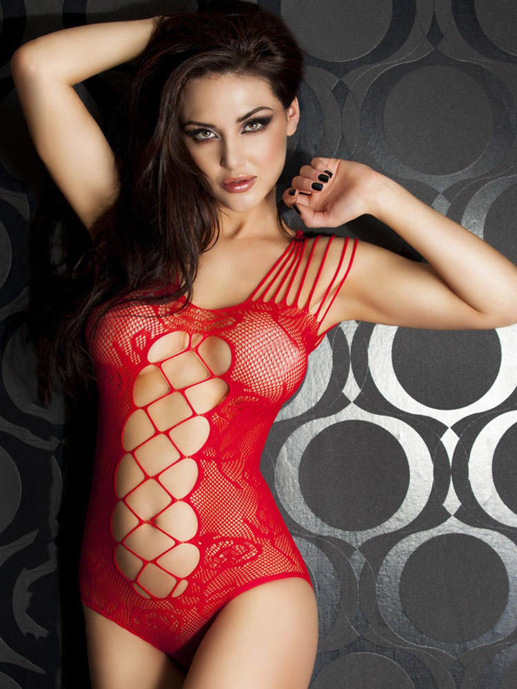 Buy Cut Out Lace Semi-sheer Teddies for $10.44 in Milanoo store