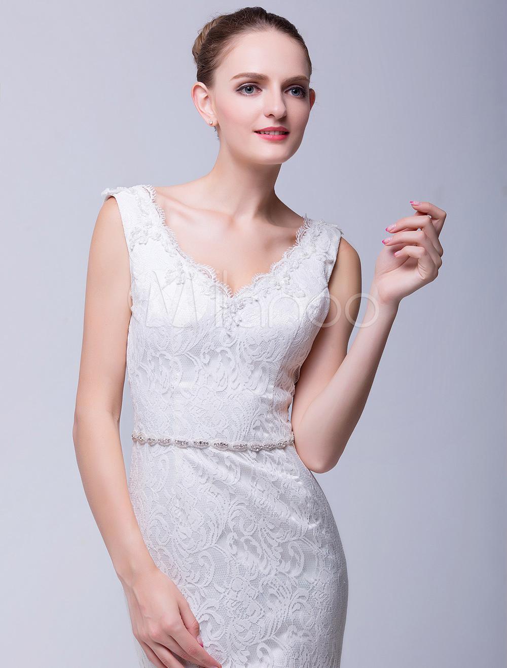 Ivory Narrow Pretty Bridal Wedding Sash