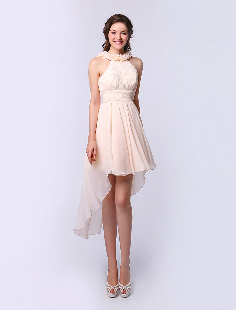 Halter Bridesmaid Dress With Chiffon