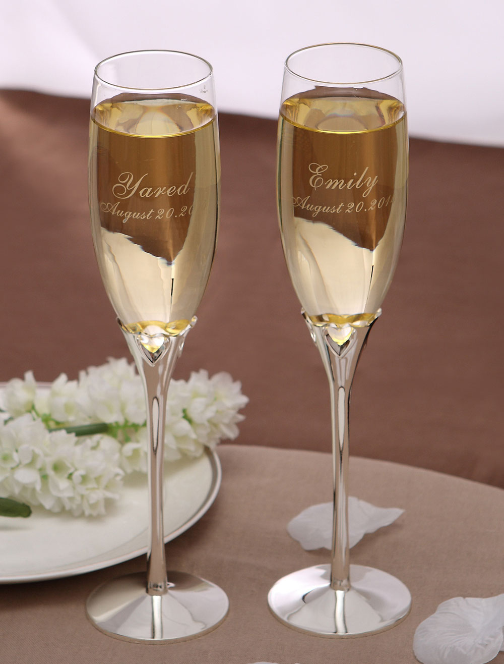 Cut Out Wedding Toasting Flutes