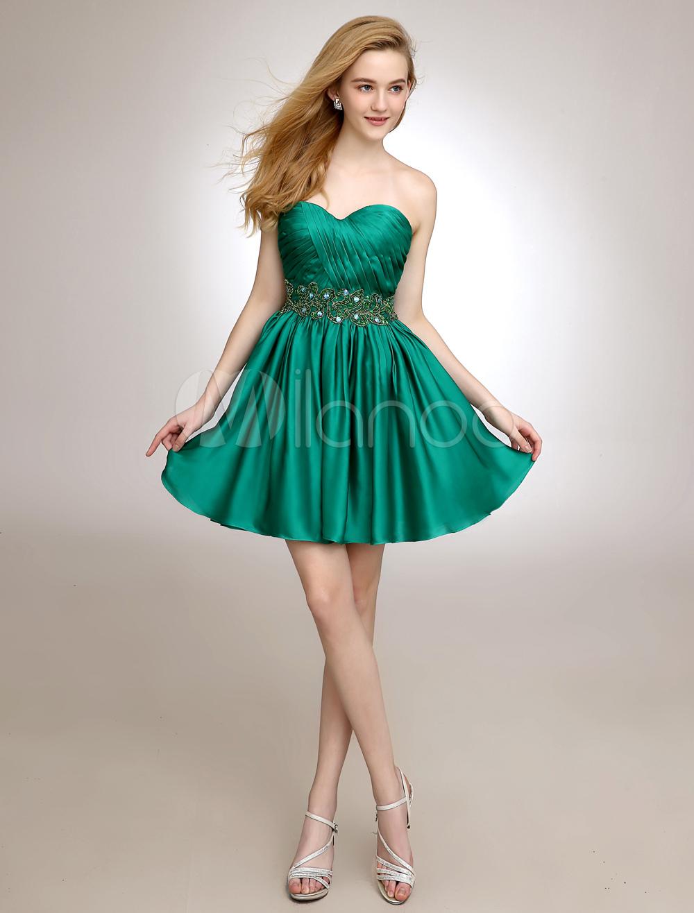 Short Sweetheart Homecoming Dress With Draped Chiffon